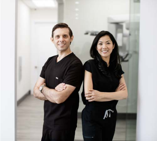Picture of Ivy-league-trained cosmetic dentist Dr. Kottar and board-certified orthodontist Dr. Hong
